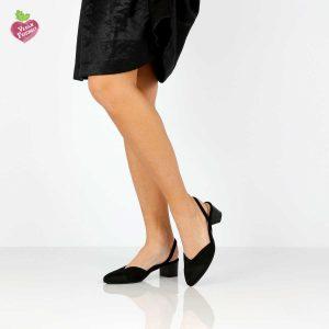 דגם אתי: נעלי סירה טבעוניות בצבע שחור - MIZU