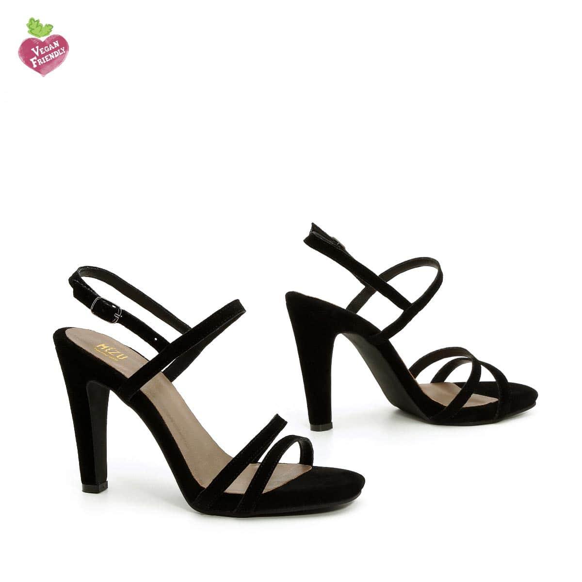 דגם עדן: נעלי עקב טבעוניות בצבע שחור