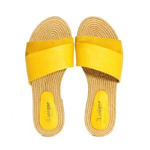 דגם אור: כפכפים בצבע צהוב - B.unique