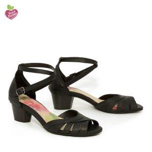 דגם יפעת: נעלי עקב טבעוניות בצבע שחור - MIZU