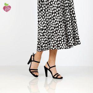דגם עדן: נעלי עקב טבעוניות בצבע שחור - MIZU