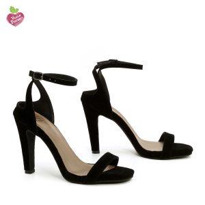 דגם אילנה: נעלי עקב טבעוניות בצבע שחור - MIZU