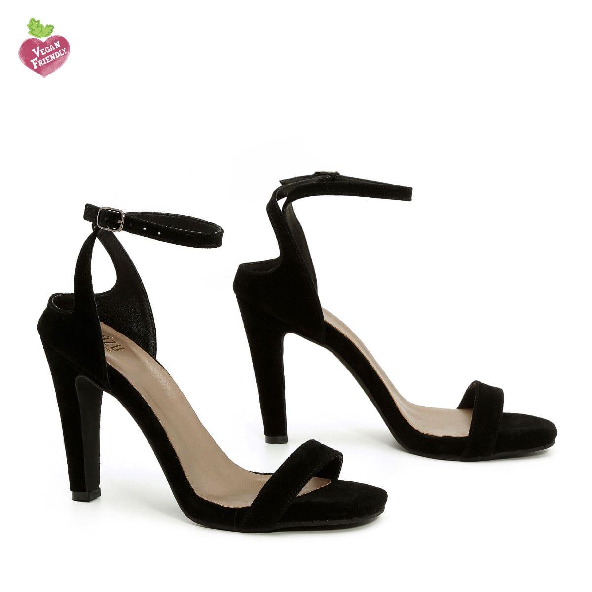 דגם אילנה: נעלי עקב טבעוניות בצבע שחור