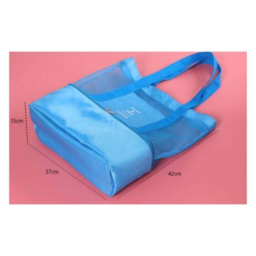 תיק עם צידנית בצבע כחול