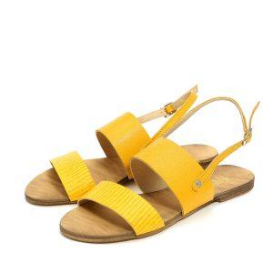 דגם ורד: סנדלים לנשים בצבע צהוב - B.unique