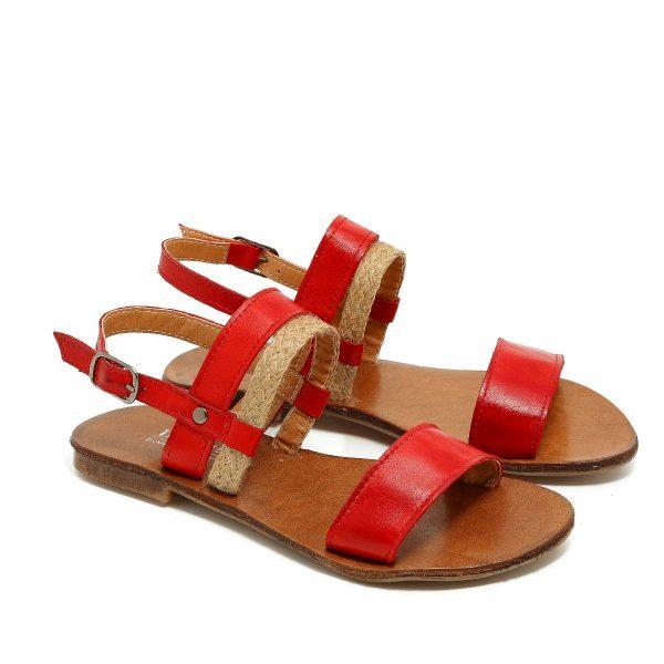 דגם לינוי: סנדלים בצבע אדום - B.unique