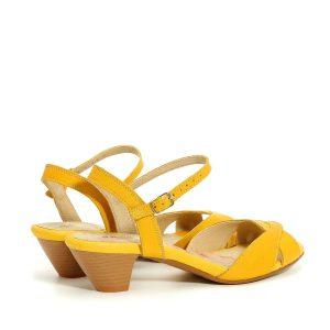 דגם טליה: סנדלי נשים בצבע צהוב - B.unique