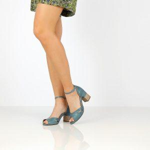 דגם אביגיל: נעלי עקב בצבע ג'ינס - B.unique