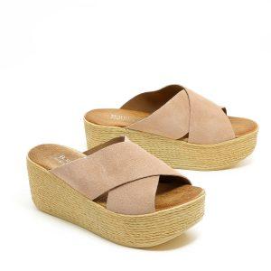 דגם משי: נעלי פלטפורמה בצבע פודרה - B.unique