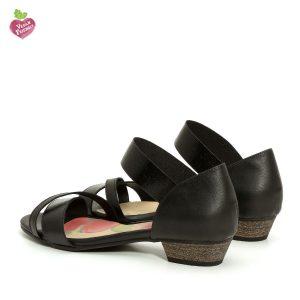 דגם מגי: סנדלי עקב טבעוניים בצבע שחור - MIZU