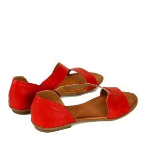 דגם פזית: סנדלים לנשים בצבע אדום - B.unique