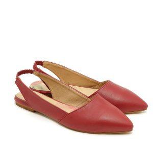 בלעדי לאתר - דגם הארלי: נעליים שטוחות בצבע בורדו - B.unique