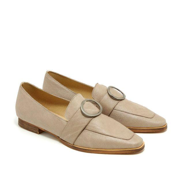 דגם אלכס: נעלי מוקסין בצבע אבן - B.unique
