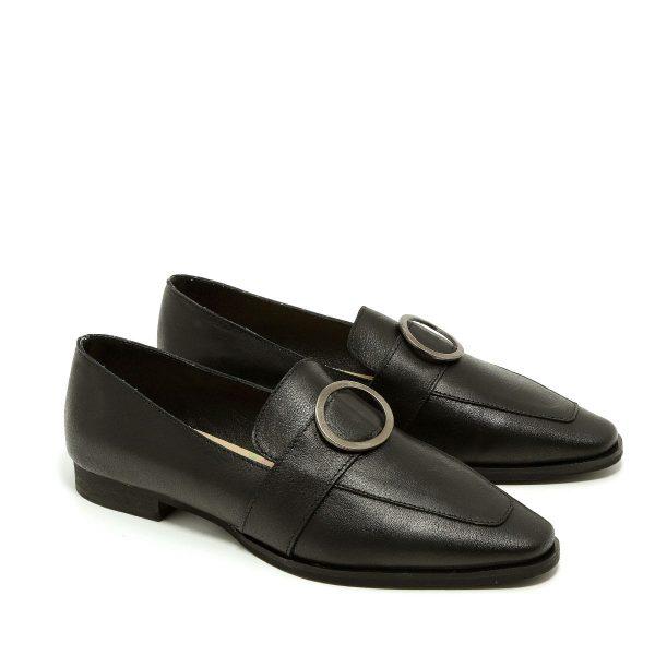 דגם אלכס: נעלי מוקסין בצבע שחור - B.unique