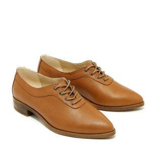 דגם דריה: נעלי אוקספורד בצבע קאמל - B.unique
