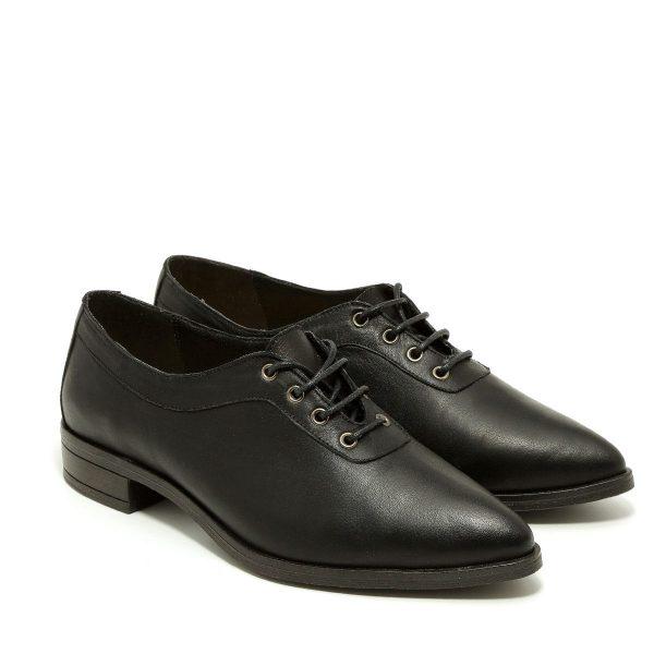 דגם דריה: נעלי אוקספורד בצבע שחור - B.unique