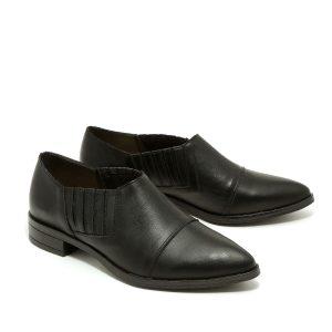 בלעדי לאתר - דגם ג'סי: נעלי שפיץ בצבע שחור - B.unique