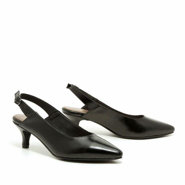 דגם קלרה: נעלי עקב בצבע שחור - B.unique
