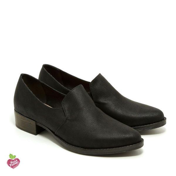 דגם ואלרי: נעלי מוקסין טבעוניות בצבע שחור - MIZU