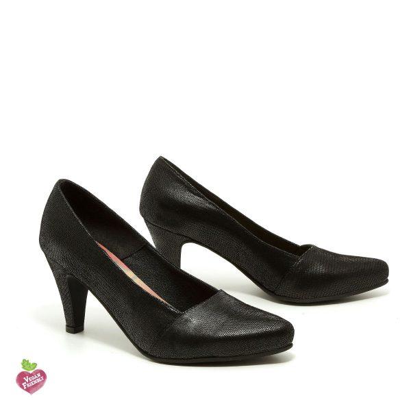 דגם פני: נעלי עקב טבעוניות בצבע שחור - MIZU