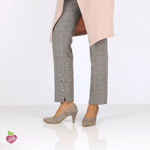 דגם פני: נעלי עקב טבעוניות בצבע אפור - MIZU