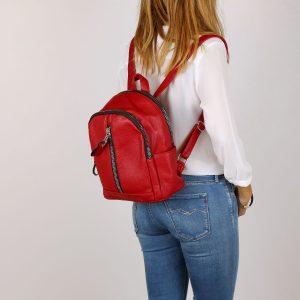 דגם דומיניק: תיק גב בצבע אדום
