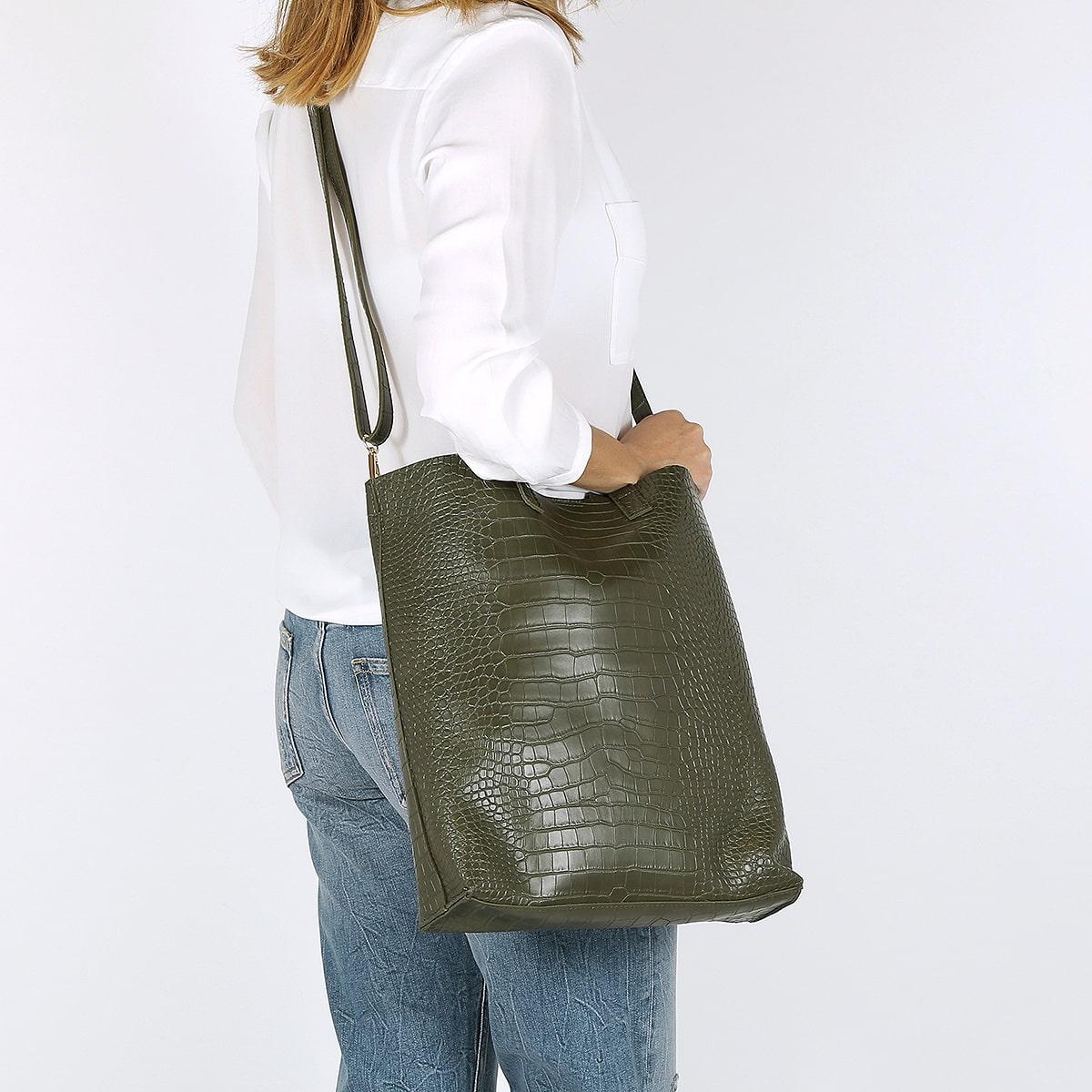 דגם רונה: תיק לנשים בצבע ירוק
