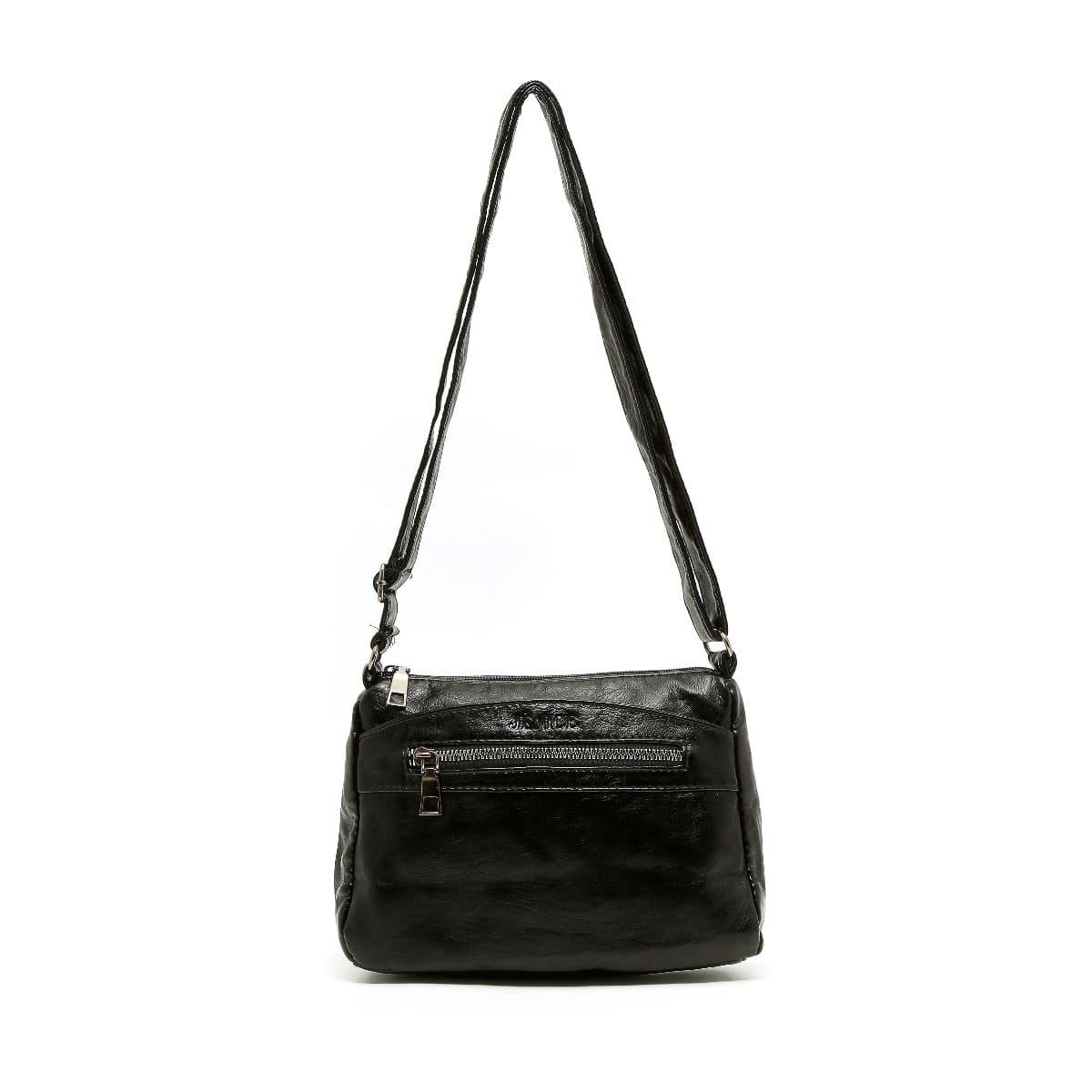 דגם זיו: תיק צד לנשים בצבע שחור