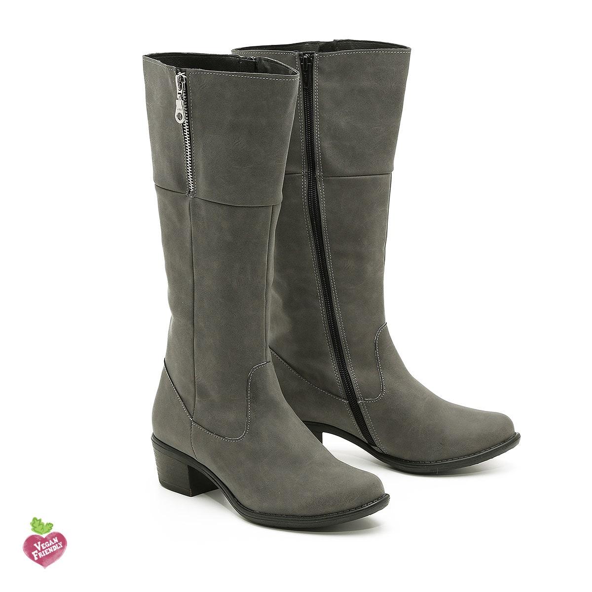 בלעדי לאתר - דגם שרלין: מגפיים טבעוניים לנשים