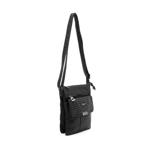דגם פמלה: תיק צד לנשים בצבע שחור