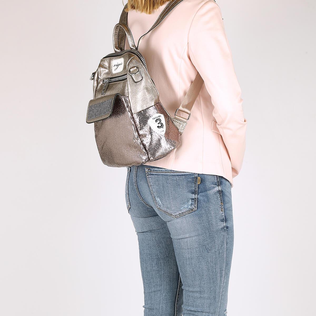 דגם מימי: תיק גב לנשים בצבע ברונזה