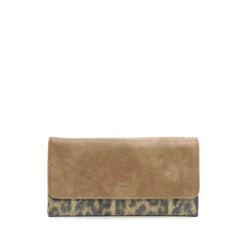 דגם ריטה: ארנק לנשים בצבע קאמל