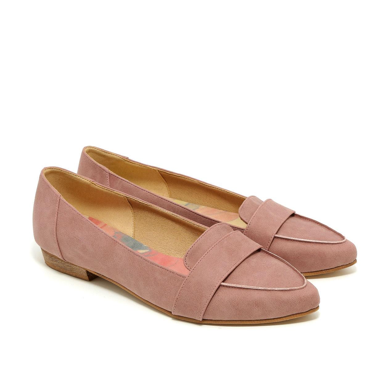 דגם אלה: נעלי מוקסין טבעוניות לנשים