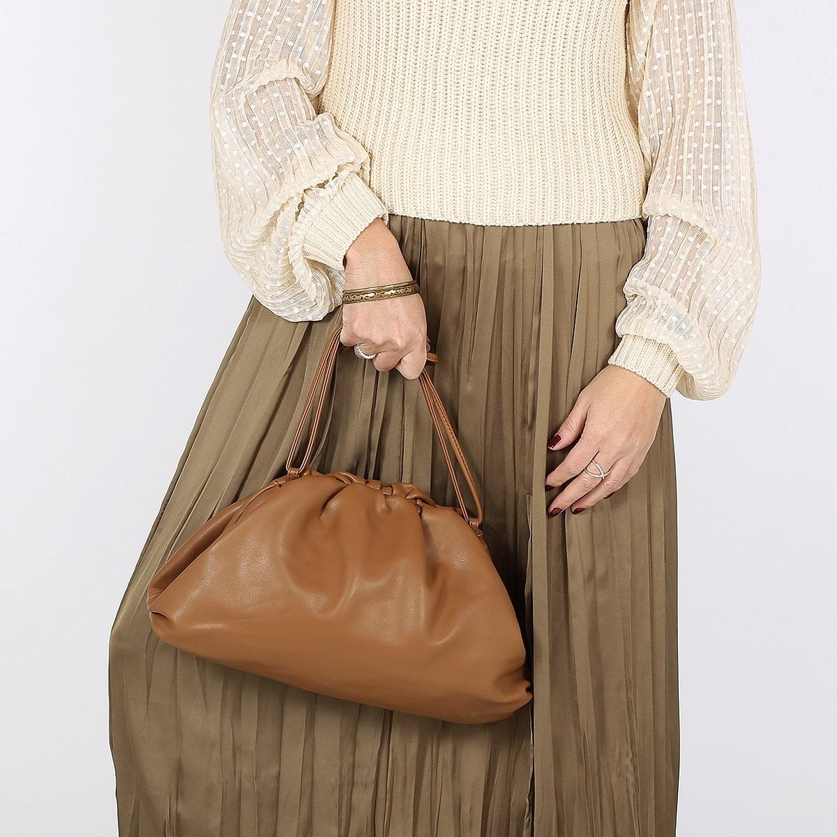 דגם הילי: תיק לנשים בצבע קאמל