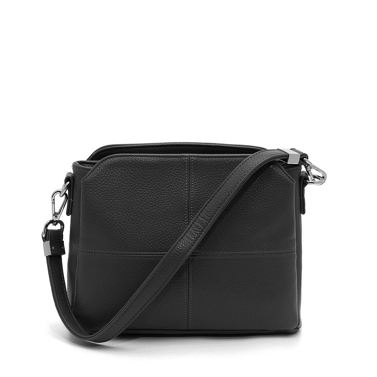דגם קלי: תיק צד לנשים בצבע שחור