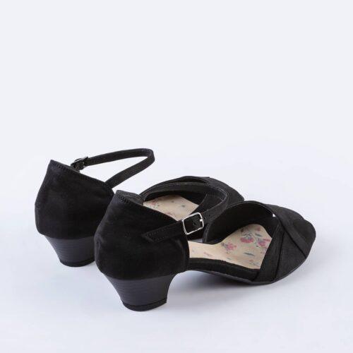 בלעדי לאתר: דגם אשלי- נעלי עקב פיפ טאו
