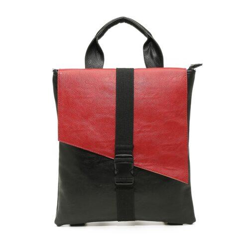 דגם ליהי: תיק גב לנשים בצבע שחור-אדום