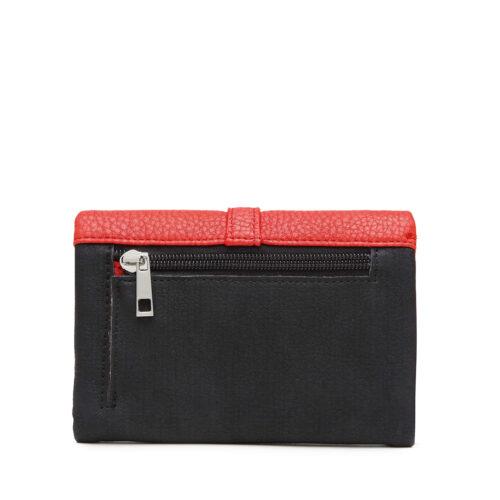 דגם אור: ארנק לנשים בצבע שחור-אדום