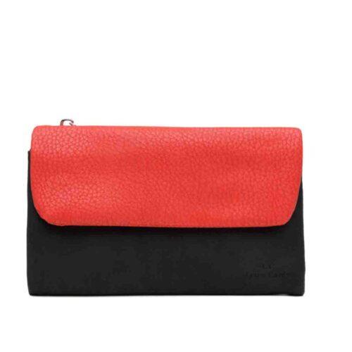 דגם אמה: ארנק לנשים בצבע שחור ואדום