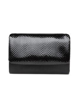 דגם יובל: ארנק לנשים בצבע שחור לק