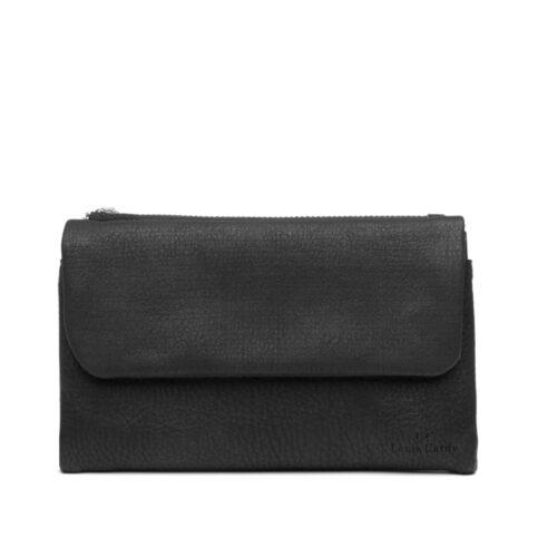 דגם אמה: ארנק לנשים בצבע שחור