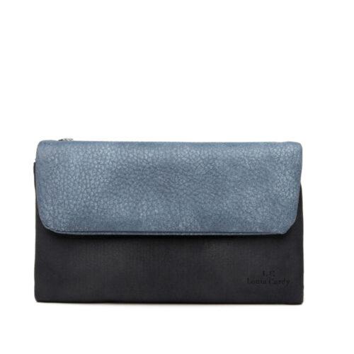 דגם אמה: ארנק לנשים בצבע כחול-שחור