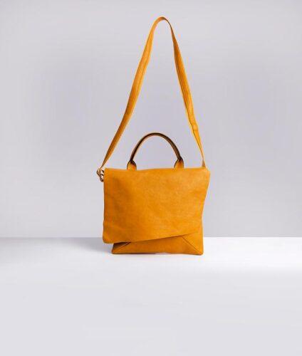 דגם סול: תיק צד לנשים בצבע צהוב