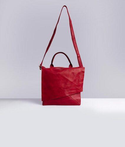 דגם סול: תיק צד לנשים בצבע אדום