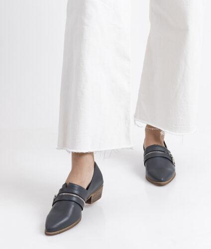 בלעדי לאתר: דגם פולי - נעלי שפיץ עם רוכסן