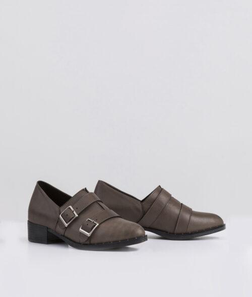 בלעדי לאתר: דגם קאיה - נעלי אוקספורד עם אבזמים
