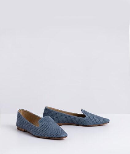 דגם נינט - נעלי מוקסין מעור קלוע