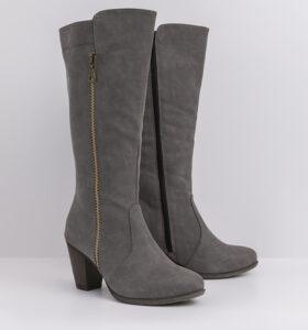 דגם מיילי - מגפיים טבעוניים לנשים עם רוכסן