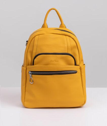 דגם טובה: תיק גב לנשים בצבע צהוב