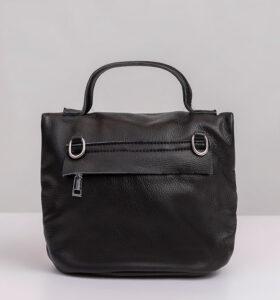 דגם אלה: תיק צד מעור לנשים בצבע שחור